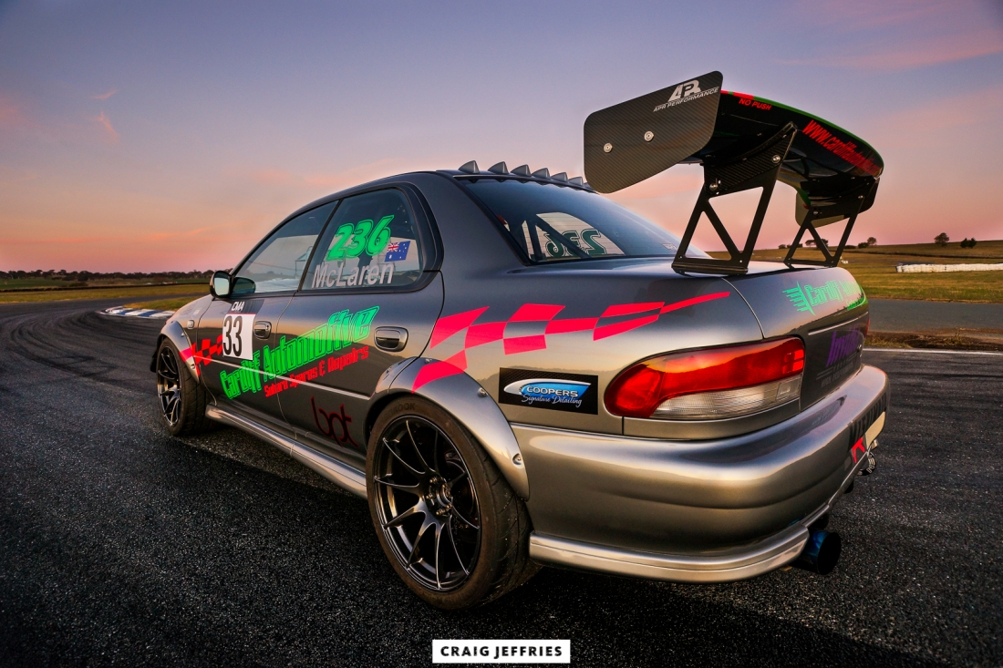 Sunset GC8 Subaru WRX